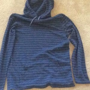 Gray with black striped Quicksilver ribbed hoodie